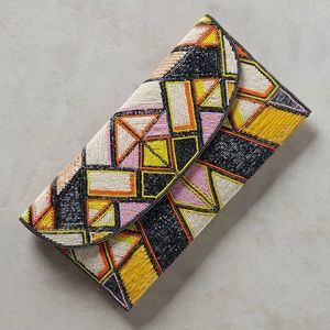 Geometric Beaded Envelope Clutch